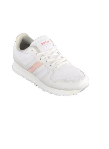Bestof Bst-062 Beyaz-Beyaz Unisex Spor Ayakkabı Beyaz